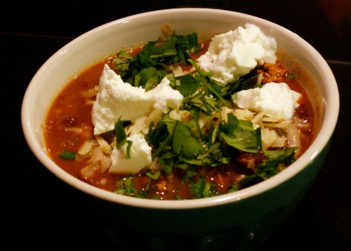 Turkey Chili with lots of toppin's!