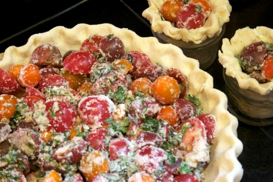 tomatoes in pie