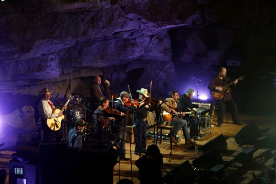 The Time Jumpers at the Cumberland Caverns for the show Bluegrass Underground. February 2012.