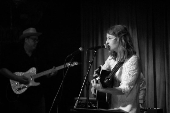 Margo Price singing at Country & Western Night at the 5 Spot. Grant Johnson on guitar. October, 2013.