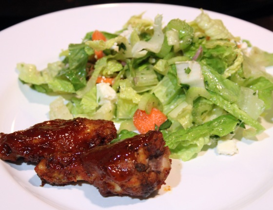 Chicken Wings & Salad