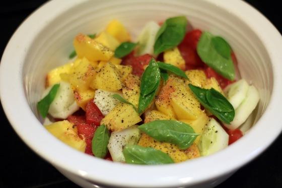 2-Tom Cuke Peach Salad
