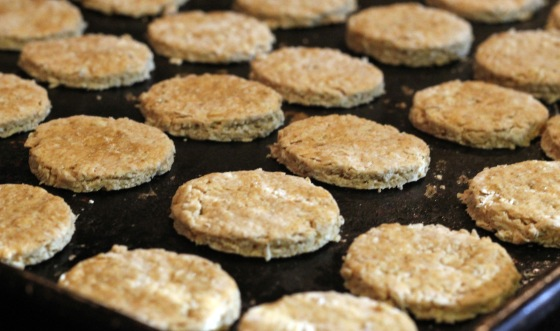 Oat Crackers Baked
