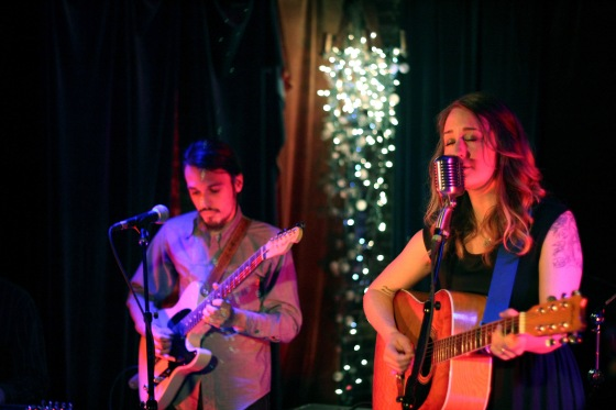 Margo Price with Mark Sloan on guitar. Basement, March 2014.