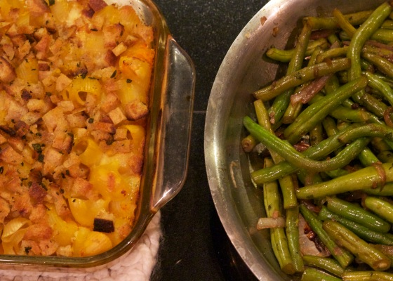 Squash Pasta & Beans